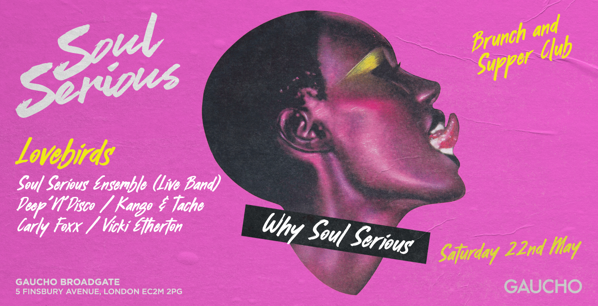 Soul Serious - Brunch & Supper Club with Lovebirds