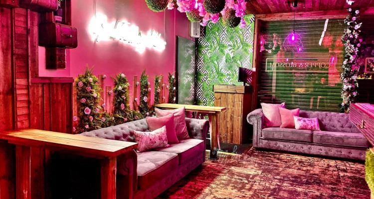 Copper and Blossom Pink Bar Manchester | DesignMyNight