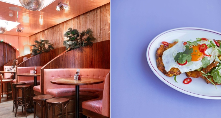 Breakfast Club Hoxton Pink Restaurants London